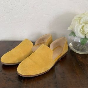 Women's Crown Vintage Yellow Suede Flats 8.5